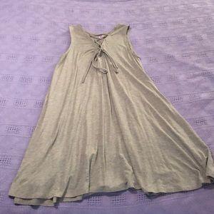 Grey cotton tank shift dress